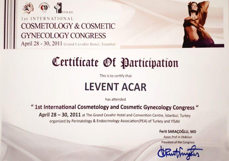 levent acar 2011 saç ekimi sertifikası