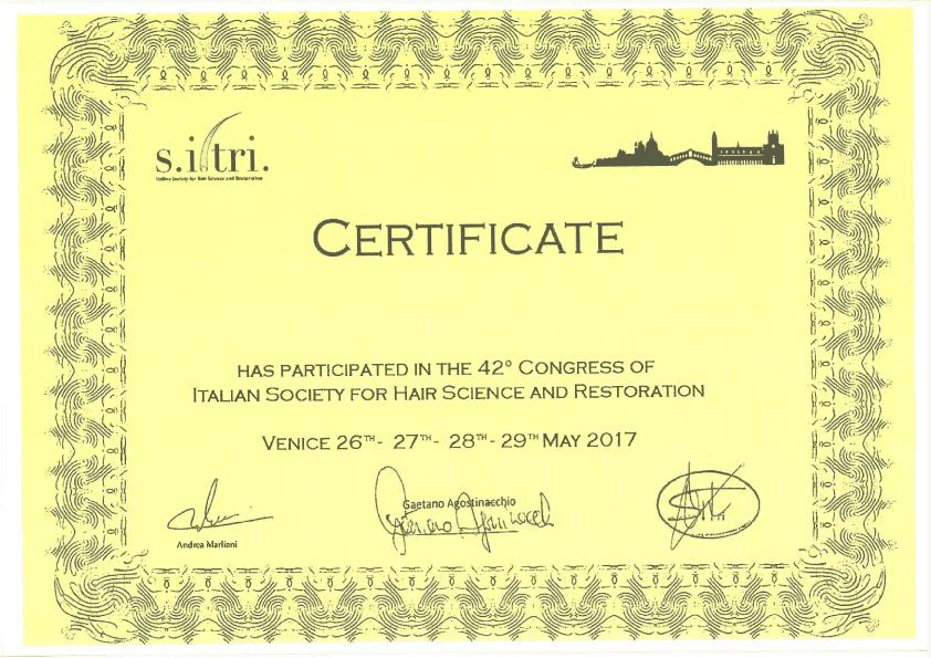 sitri 2017 italya saç ekimi sertifikası levent acar